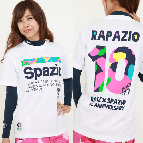 RAPAZ×SPAZIO 10周年コラボ プラクティスシャツ